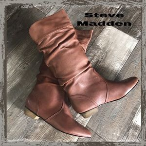 Steve Madden Soft Leather Brown Boots